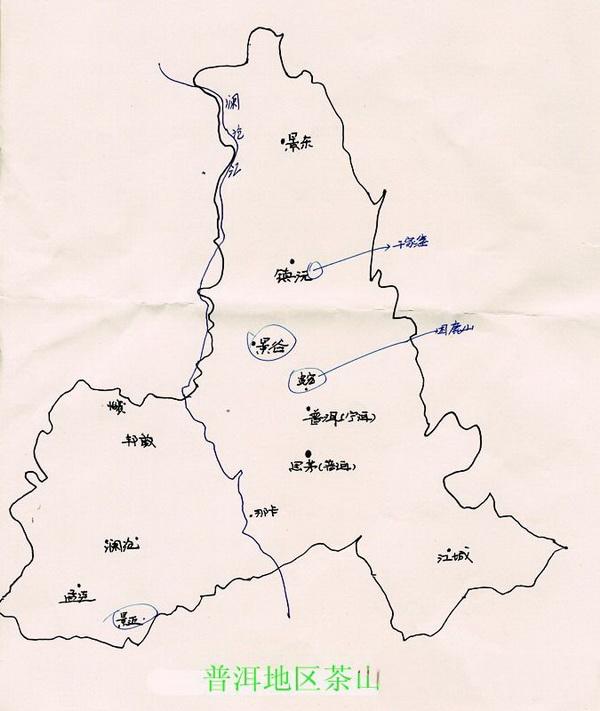 云南地图轮廓简笔画
